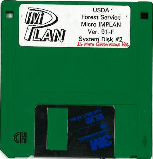 USDA Forest Service Micro IMPLAN Version 91-F (1994)